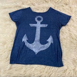 Well Worn LA nautical anchor pocket T-shirt